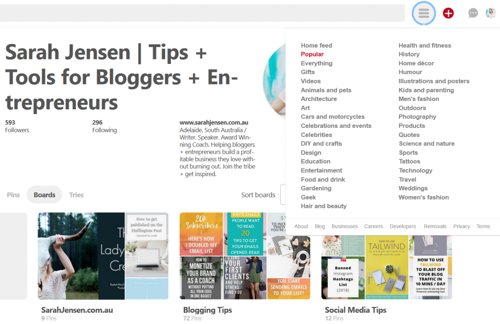 How to find what's popular or trending on Pinterest