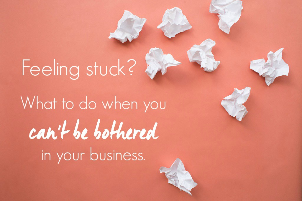 How to get unstuck in business