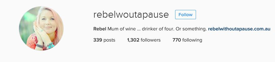 Rebel without a pause Instagram Bio