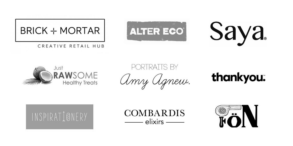 The wonderful people, businesses and brands supporting Sarah Jensen's Rock Your Goals Adelaide workshop