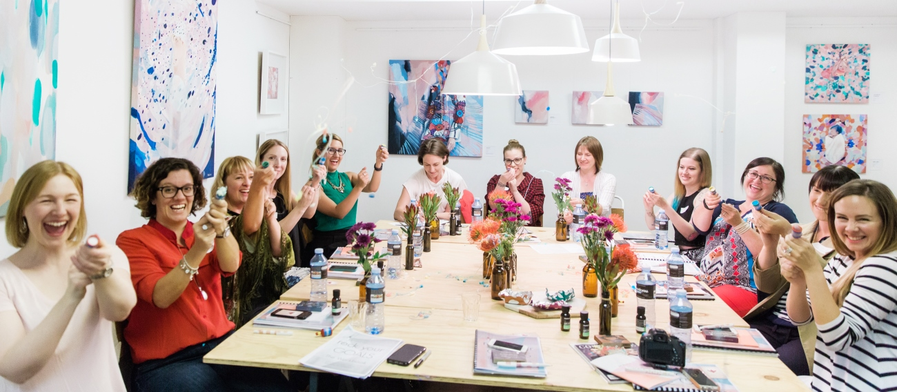 Sarah Jensen's Rock Your Goals Adelaide workshop at Brick & Mortar Creative