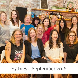Sarah Jensen - Rock Your Goals Sydney Workshop - September 2016