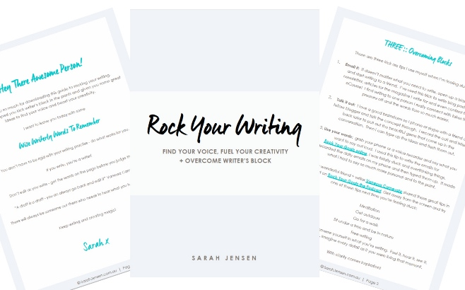 Rock Your Writing with Sarah Jensen