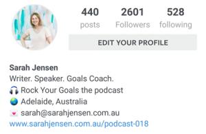Sarah Jensen Instagram