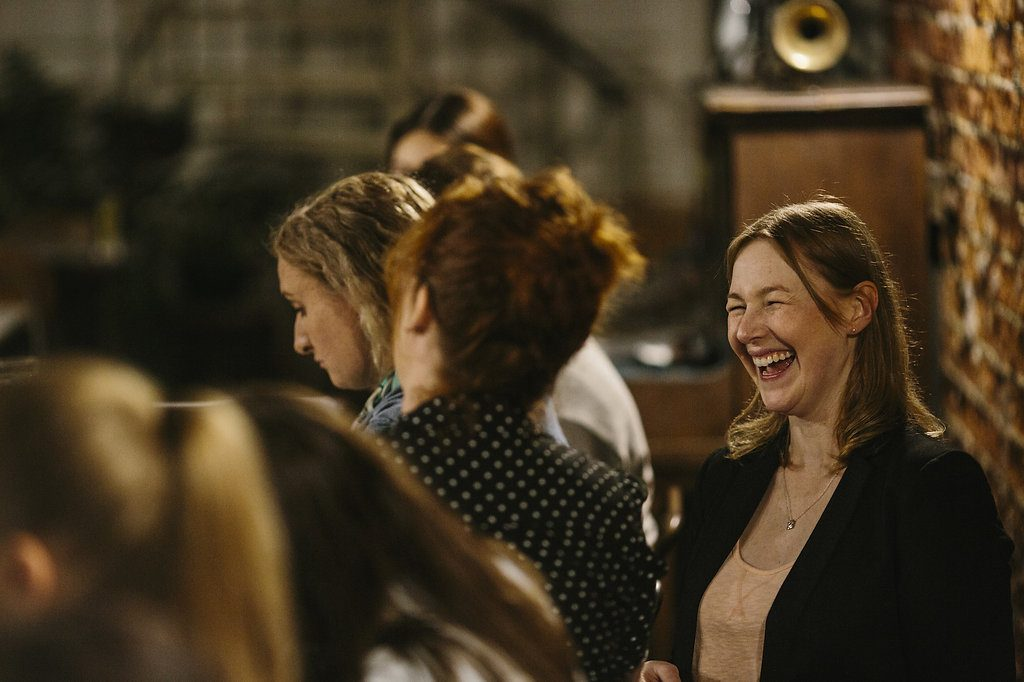 Sharing laughter at Sarah Jensen's Rock Your Goals Perth Workshop photographed by Hannah Jones of Keeper Creative