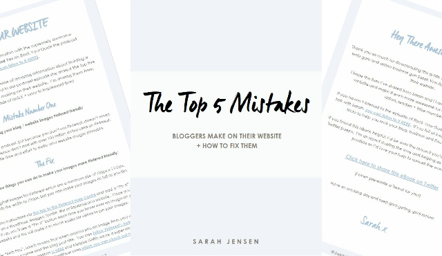 Free eBook - The Top 5 Website Mistakes People Make and How to Fix Them by Sarah Jensen
