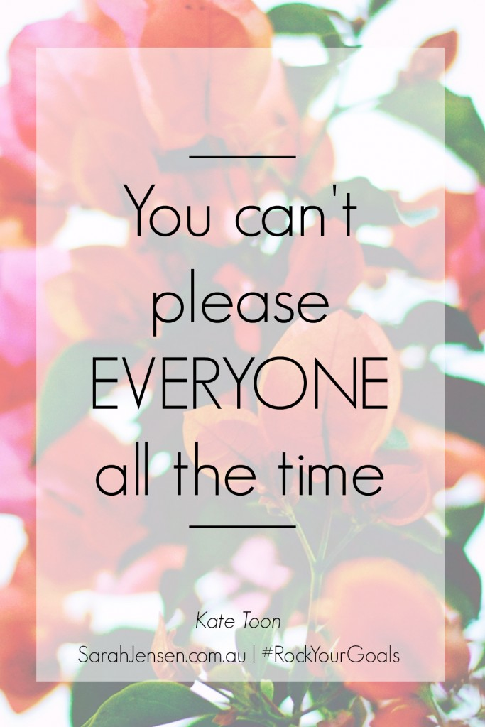 You can't please everyone all the time