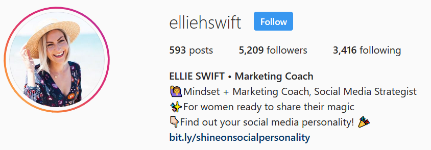Elie Swift - Instagram Bio