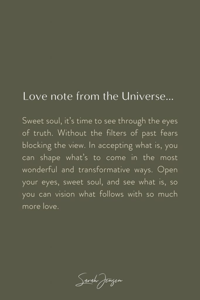 Love note from the universe