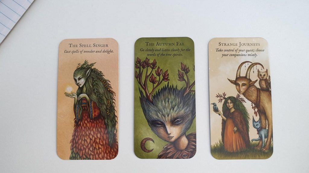 Forest Fae oracle cards