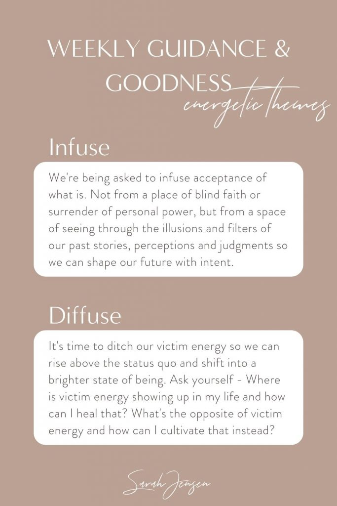 Weekly goodness and guidance - energetic themes and journal prompts for the week ahead
