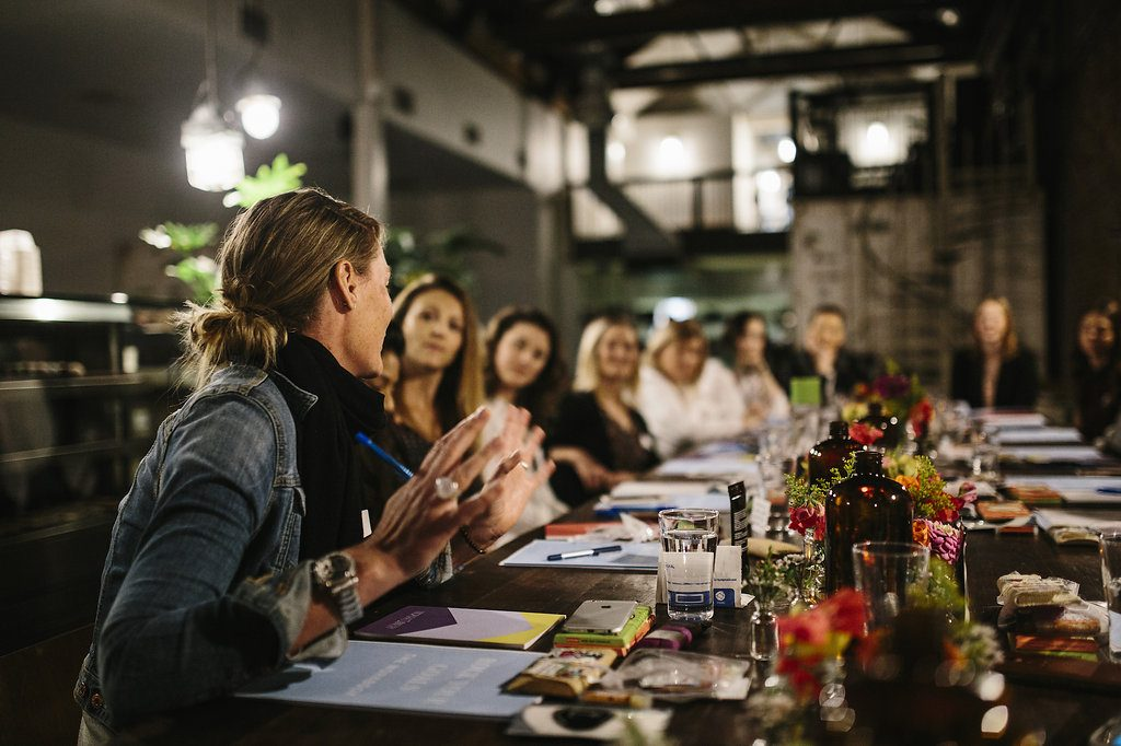 Guests sharing at Sarah Jensen Rock Your Goals Perth Workshop photographed by Hannah Jones of Keeper Creative