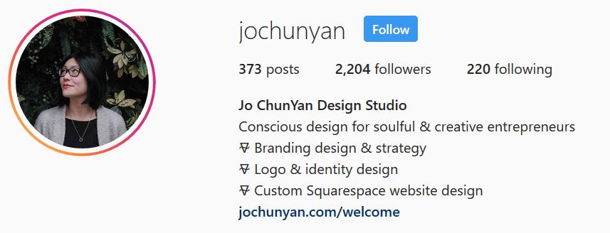 Jo ChunYan Design Studio - Instagram Bio