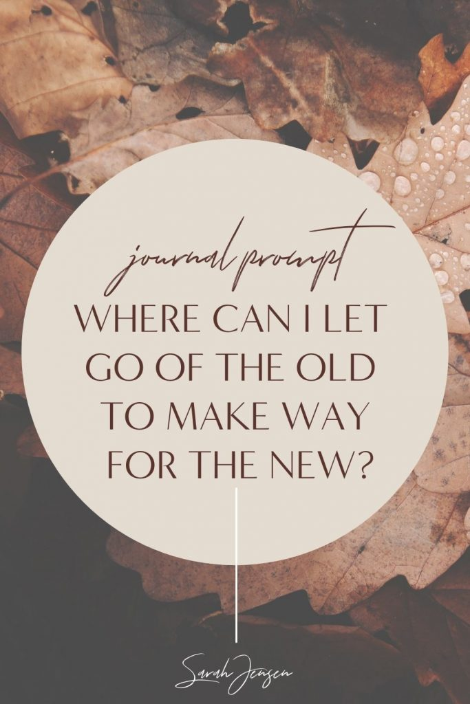 Journal prompt - where can I let go of the old to make way for the new?