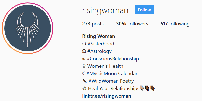 Rising Woman Instagram Bio