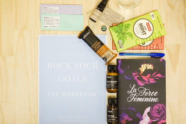 Sarah Jensen - Rock Your Goals Adelaide Workshop at Brick + Mortar Creative - guest gifts - photographed by Amy Agnew