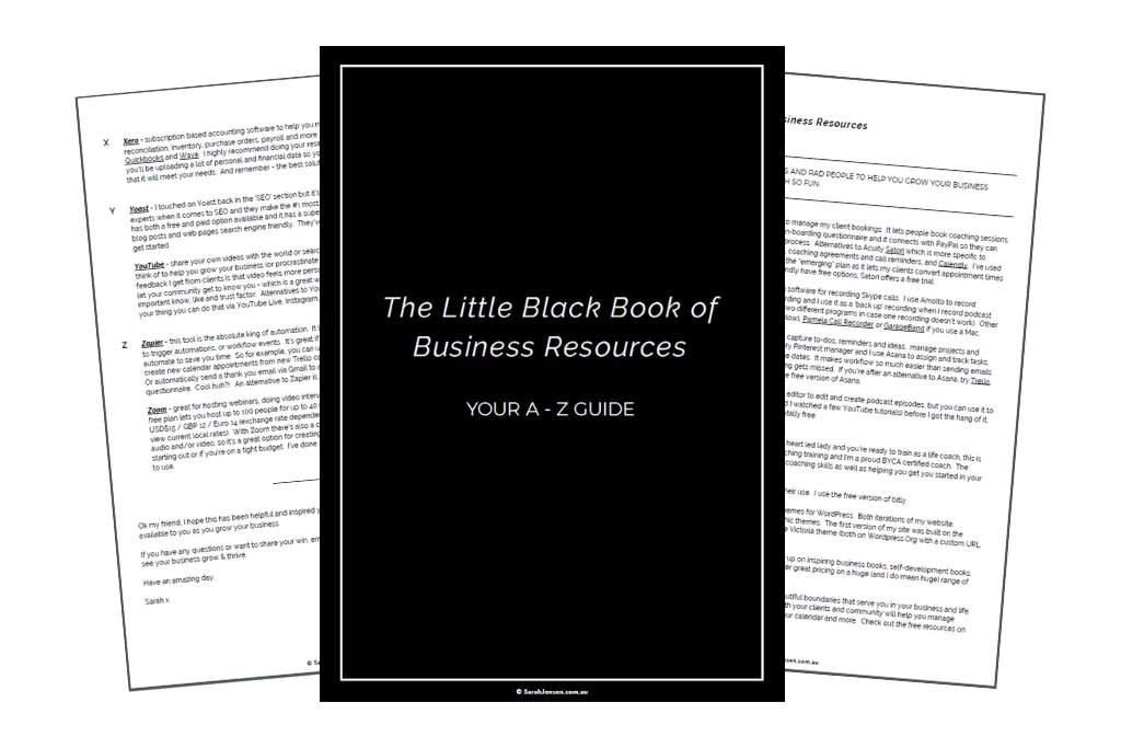 The Little Black Book of Business Resources by Sarah Jensen